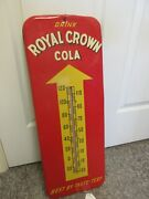 Vintage Advertising Royal Crown Cola Fountain Tin Thermometer  Store A-561