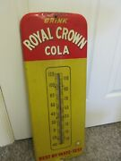 Vintage Advertising Royal Crown Cola Fountain Tin Thermometer  Store A-553
