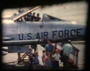 1958 Air Force Show Jet Airplanes Aviation Standard 8mm Home Movie Film Reel