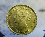 1901 Small Five Cent Piece Coin - Nice Example With Nice Luster  Ms 63