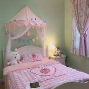Kids Play Tents Pink Princess Castle Indoor Baby Girls Crib Canopy Net Bed Tents