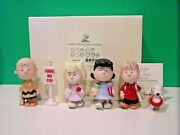 Lenox Peanuts Back To School 6 Piece Set New In Box With Coa Snoopy Linus Lucy