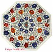 White Dining Table Top Carnelian Floral Marble Inlay Stone Table Hallway Dandeacutecor