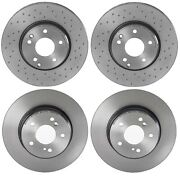Brembo Front And Rear Brake Disc Rotors Uv Coated Kit For Mb C209 A209 W203 S203