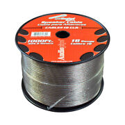 Speaker Wire Audiopipe 18 Ga 1000and039 Clearcbp181000