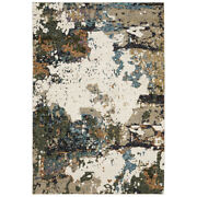 Sphinx Ivory Contemporary Burned Distressed Bleached Area Rug Abstract 0981a