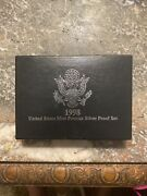 1998 United States Mint Premier Silver Proof Set With Box And Coa..