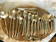 1847 Rogers Bros Silverplate Flair 65 Pieces Serving Spoons Forks