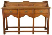 Hekman Oak And Olive Ash Burled Asian Sideboard Console Altar Hall Entry Table 54