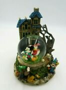 Disney Mickey Mouse And Friends Funeral March Halloween Musical Snow Globe