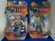 Lot Of 2 Thor The Mighty Avenger Comic Series Lord Thor And Loki Action Figures