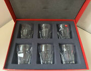 Baccarat 1841 Harcourt Old Fashion 3.7 Inch Set Of 6 - Vintage New Stock In Case