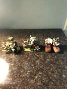 Lot Charming Tails 3 Fitz And Floyd Figures - One Signed
