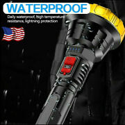 200000lm Led Flashlight Rechargeable Tactical Torch 3 Modes Built-in Battery Us