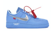 Nike Air Force 1 Low Off-white Mca University Blue Size 10.5 Ci1173-400