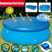 Swimming Pool Solar Cover 8ft 10ft Heats Water Heat Clean Round Cover Uk