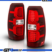 2007-2013 Chevrolet Avalanche Led Brake Red Replacement Tail Lights Rear Lamps