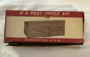 Vinmtage O Scale Plasticville Us Post Office Building Kit In Box Po-1