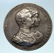1859-1941 Wilhelm Ii And Augusta Victoria Of Prussia And Germany Silver Medal I82728