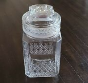 Vintage Koezes Clear Glass Pineapple Print Apothecary Jar Wedding Candy Canister