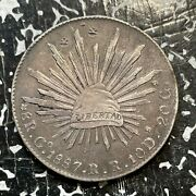 1887-go Rr Mexico 8 Reales Lotjm3011 Large Silver Coin Chopmarked