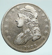 1836 United States Half Dollar Antique Silver Old Early Half Dollar Coin I90985