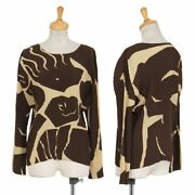 Issey Miyake Pleats Print Cut-and-sew Brown Womenand039s Tops 5h425
