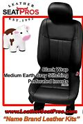Leather Seat Covers 2015-20 Ford F-150 Supercrew Supercab Xlt Stx Black Stone