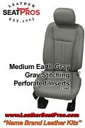 Leather Seat Covers 15-20 Ford F-150 Supercrew Supercab Xlt Stx Med Earth Gray
