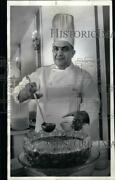 Large 1968 Press Photo Chef Ernest Louis, Post And Paddock Club - Ssa32429