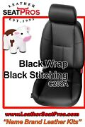 Leather Seat Covers 2007-13 Chevrolet Silverado Crew Extended Cab Double Black
