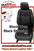 Leather Seat Covers 2016-2021 Toyota Tacoma Double Cab Black Factory Match