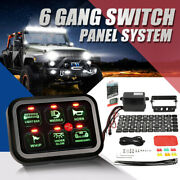 6 Gang Switch Panel Electronic Relay Circuit Control System Led Work Light Bar