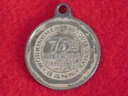 Vintage 1880-1955 Working Mens Co-operative Bank Cornhill Boston Fob Medal