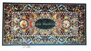 Sale Online Dining Hallway Table Top Mosaic Semi Precious Inlaid Handcurved Deco