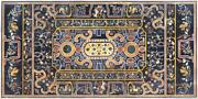 Black Marble Center Dining Collectible Table Top Mosaic Inlaid Semi Precious Art