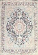 Floral Semi-antique Kirman Hand-knotted Area Rug Evenly Low Pile Oriental 10x12