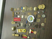 Military And Other Medals Buttons Badges Medallions Group Us And Foreign