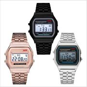 F91w Steel Strap Watch Vintage Led Digital Sports Military Watches Electronic Wr