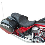 Drag Specialties Low Touring Seat Double Diamond Silver Solar Reflective