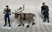 Frozen Kristoff, Sven, And Hans Playset 3 Figure Cake Topper Toy Doll Set