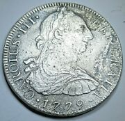 1779 Fame Shipwreck Spanish Mexico Silver 8 Reales 1700and039s Pirate Dollar Coin