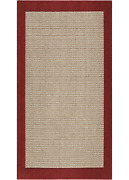 Mainstays Faux Sisal Indoor Living Room Area Rug, Red, 5'x7'