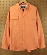 Duluth Trading Co. Gussetted Shirt 2xl Orange Polyester No Worries Vented