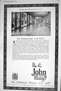 Old 1922 Advertisement John Haig Clubmanand039s Whisky Markinch Fife Londo 20th