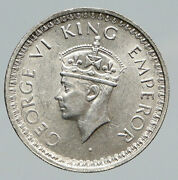 1944l India States Uk King George Vi Antique Silver 1/2 Rupee Indian Coin I91741