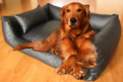 Genuine Handmade Pet Leather Bed Cover For Cats And Dogs/ Floor Cushion Cover 1