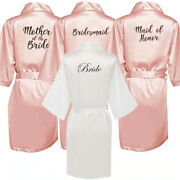 New Bride Bridesmaid Robe With White Black Letters Mother Sister Of The Bride