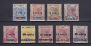 Seychelles 1901-1902 Sg 37-40 41-45 Two Complete Sets Mlh