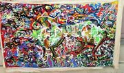 Modern Abstract Expressionist Pig Painting Graffiti Outsider Street Art Mural